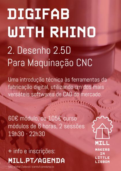 DigiFab with Rhino: Desenho 2.5D para Maquinação CNC