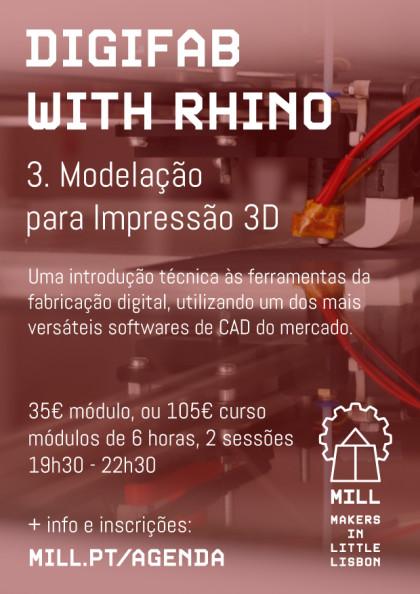 DigiFab with Rhino: Modelação para Impressão 3D