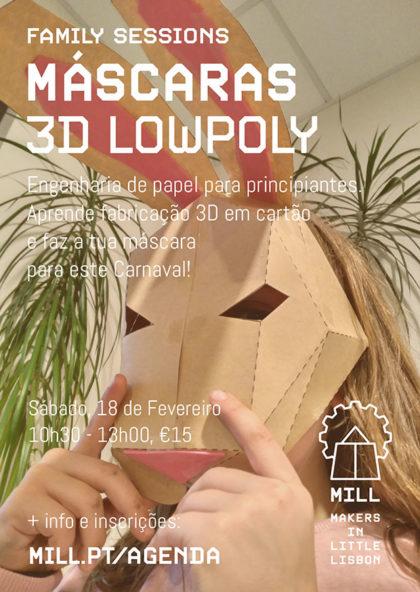 Máscaras 3D Lowpoly